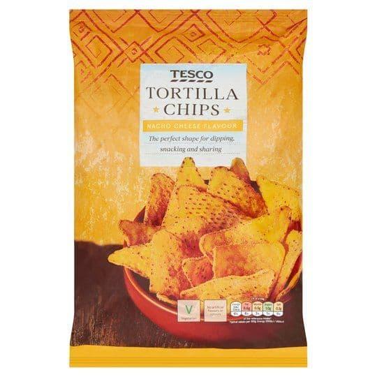 Tesco Nacho Cheese Tortilla Chips