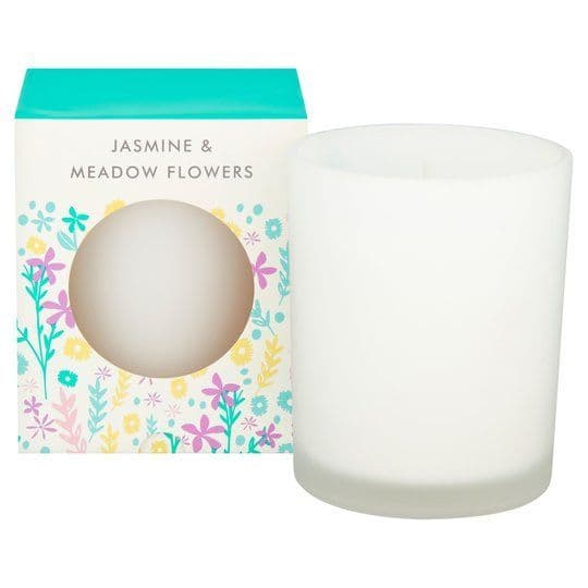 Tesco Neon Floral Candle Jasmine & Meadow Flowers