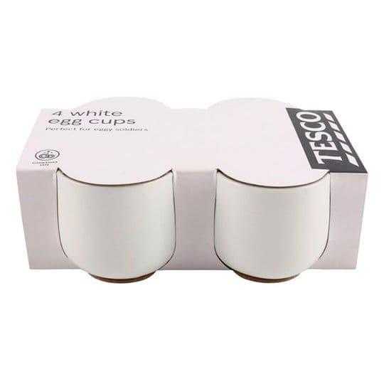 Tesco Nova Porcelain Egg Cup 4pk