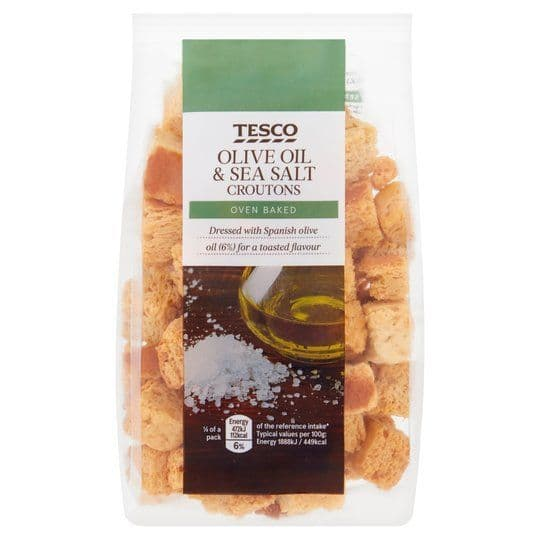 Tesco Olive Oil & Sea Salt Croutons 100g