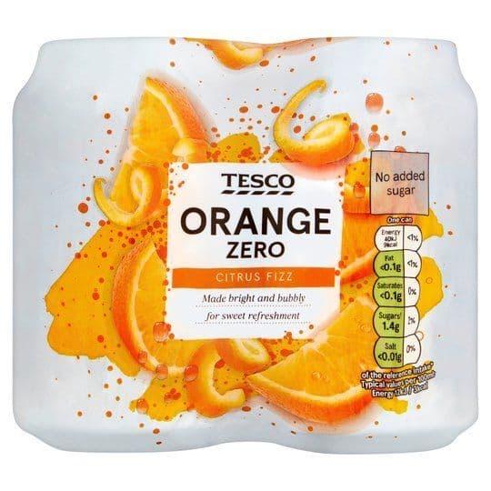 Tesco Orange Zero 4x330ml