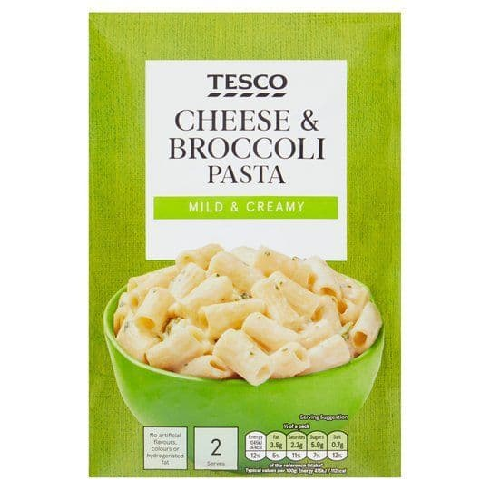 Tesco Pasta in Sauce Cheese & Broccoli 120g