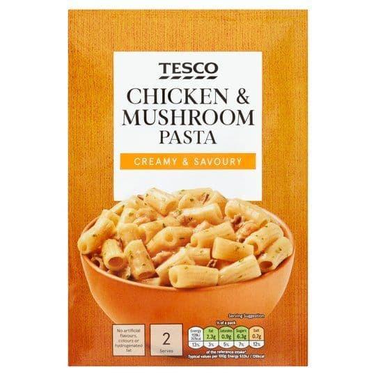 Tesco Pasta in Sauce Chicken & Mushroom 120g