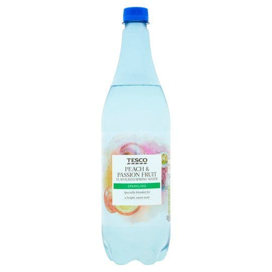 Tesco Peach & Passion Fruit Sparkling Water 1L
