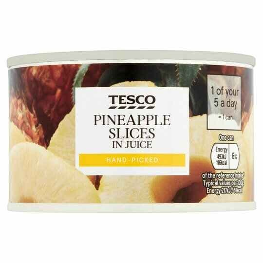 Tesco Pineapple Slices in Juice 227g