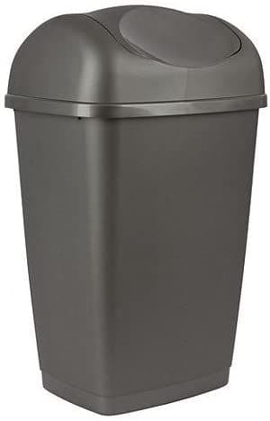 Tesco Recycled 50L Swing Bin Dark Grey