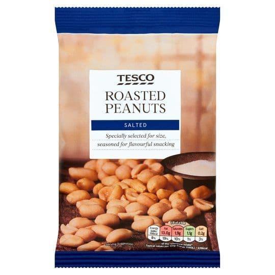 Tesco Roasted Peanuts Salted 200g