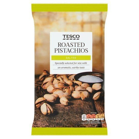 Tesco Roasted & Salted Pistachio Nuts 300g