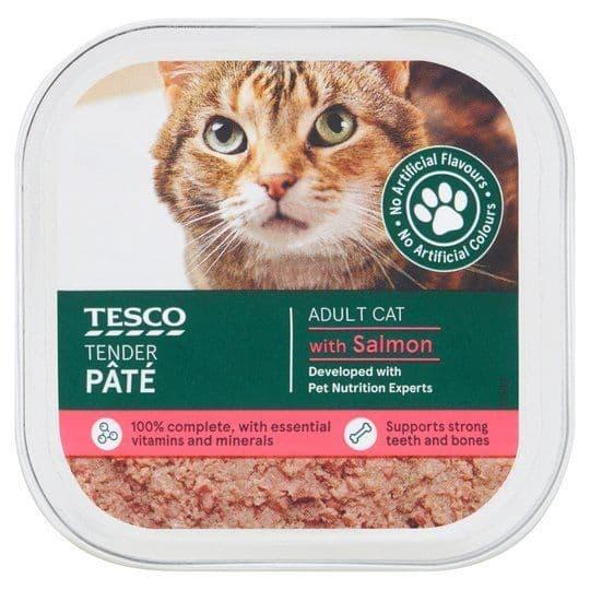 Tesco Salmon Cat Food Pate 100g
