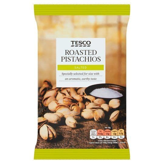 Tesco Salted & Roasted Pistachios 150g