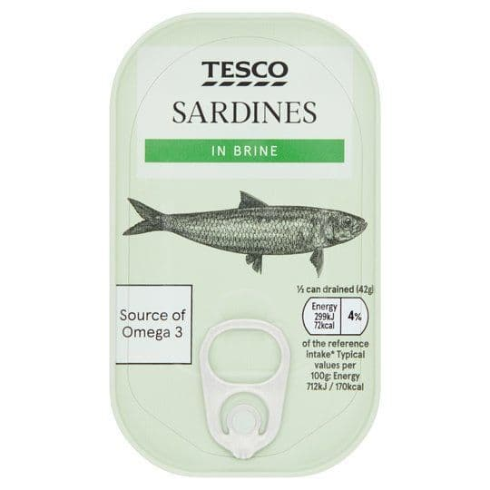 Tesco Sardines in Brine 120g