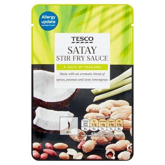 Tesco Satay Stir Fry Sauce 120g
