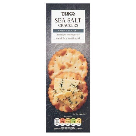 Tesco Sea Salt Crackers 185g