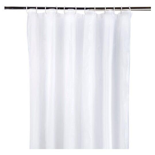Tesco Shower Curtain & Ring Set White