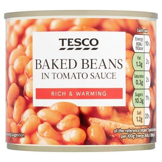 Tesco Small Baked Beans in Tomato Sauce 220g