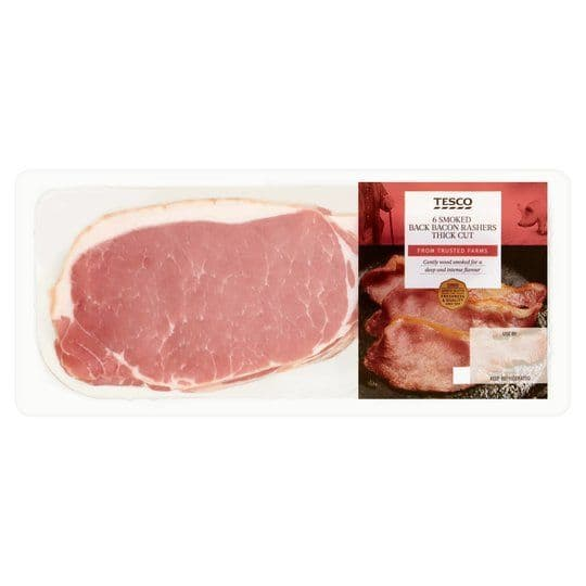 Tesco Smoked Back bacon 10 pack