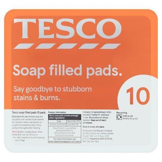 Tesco Soap Filled Pads 10Pk