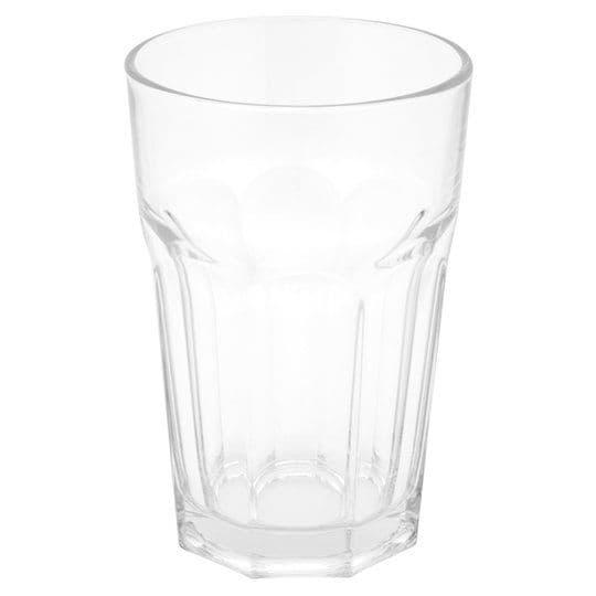 Tesco Soda Glass Tumbler Clear