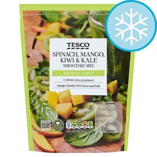 Tesco Spinach Kiwi Mango & Kale Smoothie Mix 500g