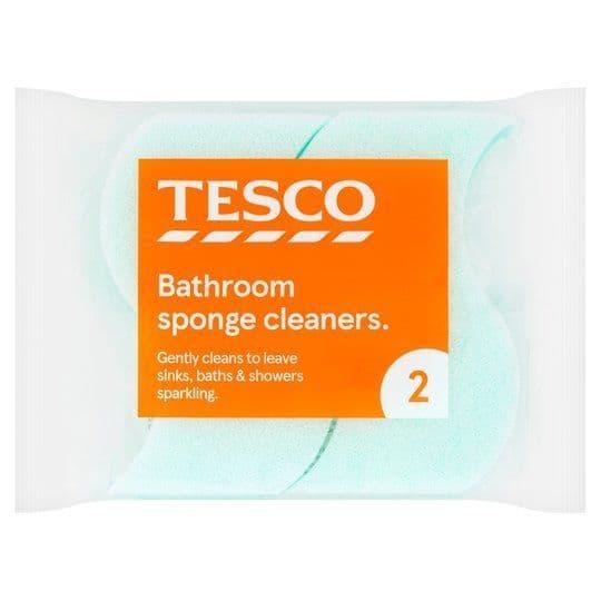 Tesco Sponge Bathroom Cleaner 2pk