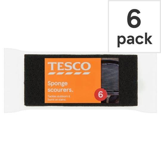 Tesco Sponge Scourers 6 pack