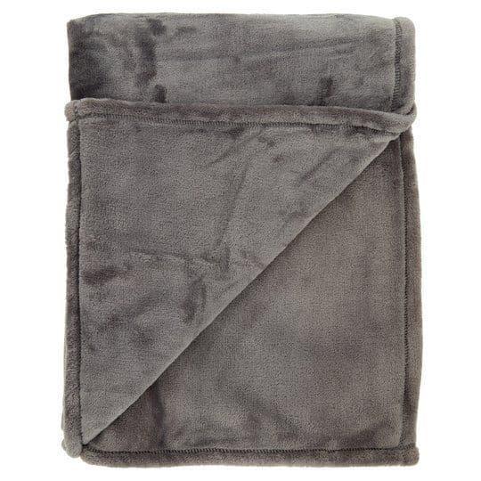 Tesco Super Soft Throw Grey 145x180cm (786)