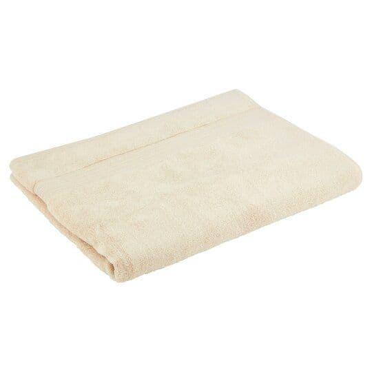 Tesco Supersoft Cotton Bath Sheet Stone