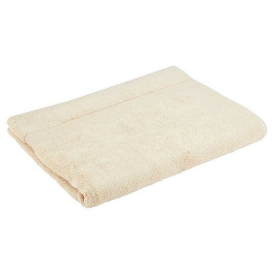 Tesco Supersoft Cotton Bath Towel Stone