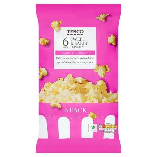 Tesco Sweet & Salty Popcorn 6x14g