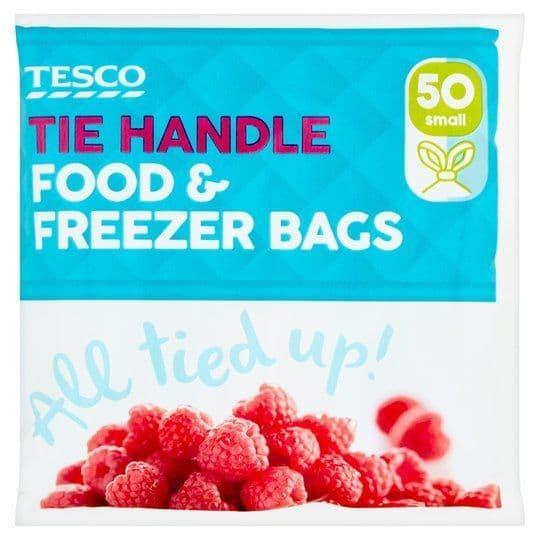 Tesco Tie Handle Freezer Bags Small (50)