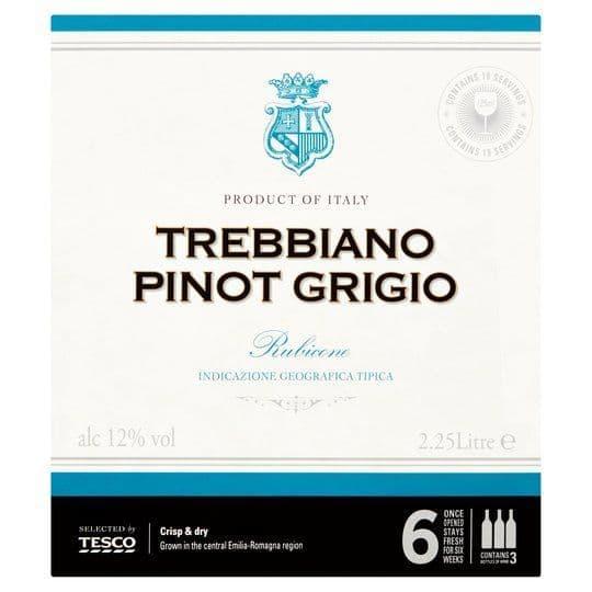 Tesco Trebbiano Pinot Grigio Bag in a Box 2.25L