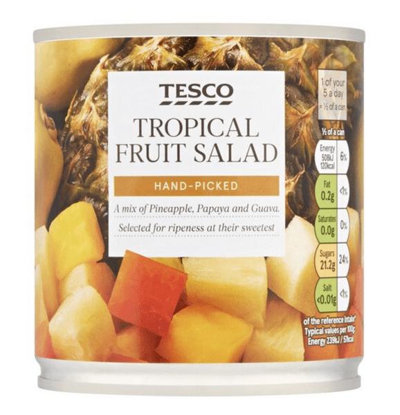 Tesco Tropical Fruit Salad 425G