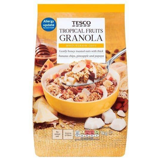 Tesco Tropical Fruits Granola 1kg