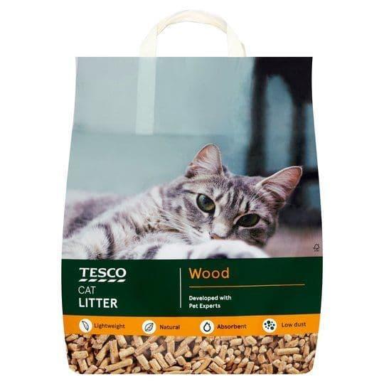 Tesco Ultra Absorbent Wood Cat Litter Light Weight 10 Litre