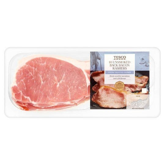 Tesco Unsmoked Back Bacon 300g