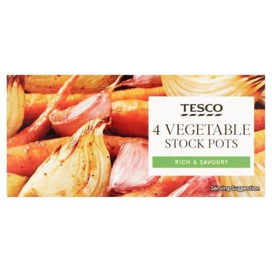 Tesco Vegetable Stock Pots 4 pack 112g