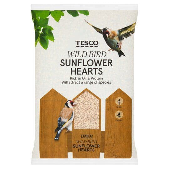 Tesco Wild Bird Sunflower Hearts 4kg