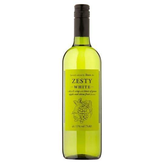 Tesco Zesty White Wine 75cl