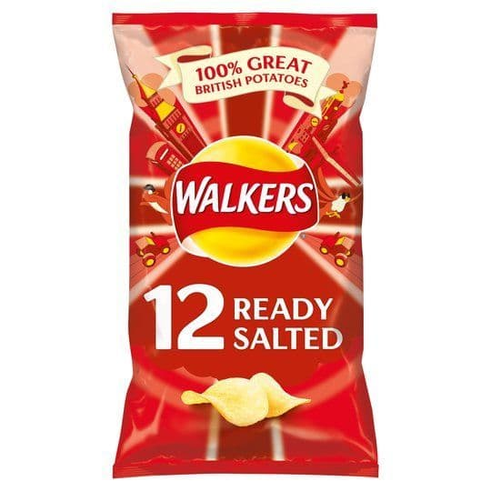 Walkers Ready Salted Crisps 12x25g