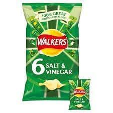 Walkers Salt & Vinegar 6pk