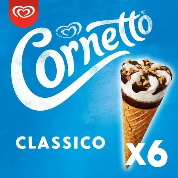 Walls Cornetto Classic 6pk