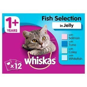 Whiskas 1+ Fish Selection in Jelly 12x100g