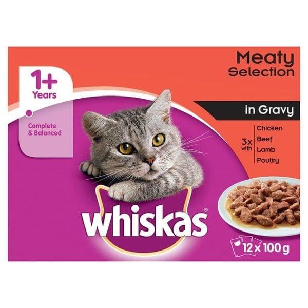 Whiskas 1+ Meaty Selection in Gravy 12x100g