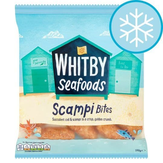 Whitby Seafoods Breaded Scampi Bites 190g