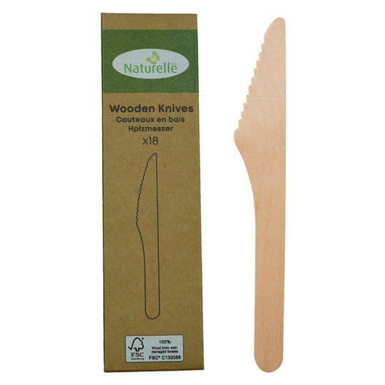 Wooden Knives 18pk