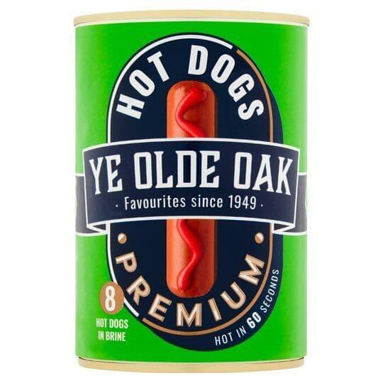 Ye Old Oak Premium Hot Dogs In Brine 400g