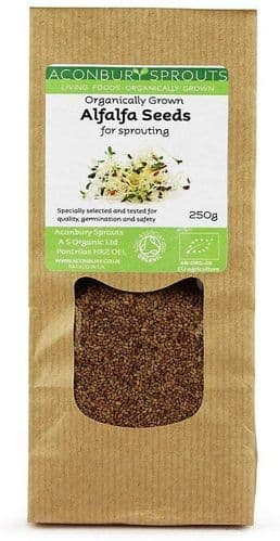 ACONBURY SPROUTS Organically Grown Alfalfa Seed for Sprouting