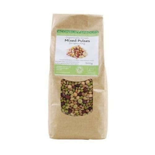 ACONBURY SPROUTS Organically Grown Mixed Beans & Pulses for Sprouting