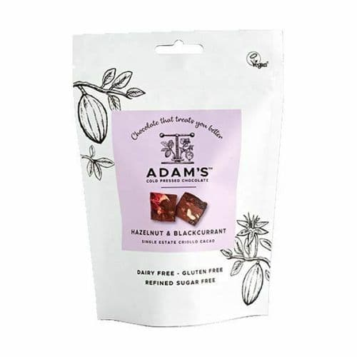 ADAM'S COLD PRESSED CHOCOLATE Hazelnut & Blackcurrant Pouch