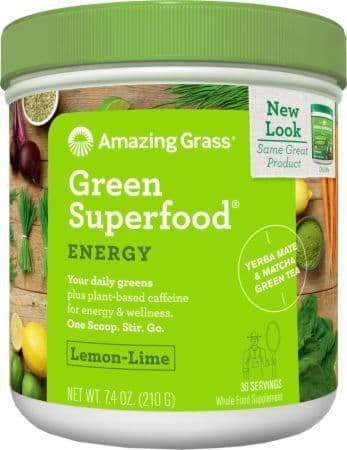 AMAZING GRASS Green Superfood Energy Lemon Lime
